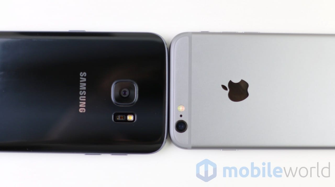Confronto Galaxy S7 - iPhone 6s - 7