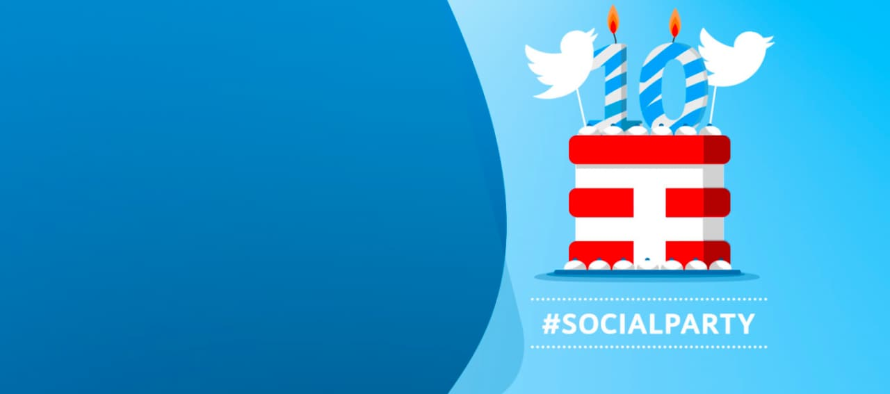 TIM social party compleanno Twitter