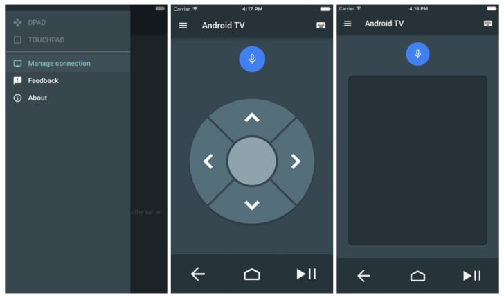 Android TV app iOS