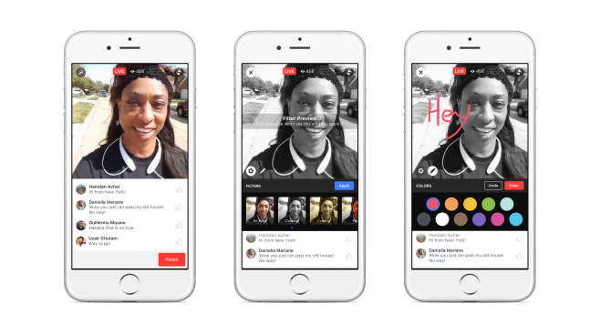 Facebook Live Creative Tools iOS