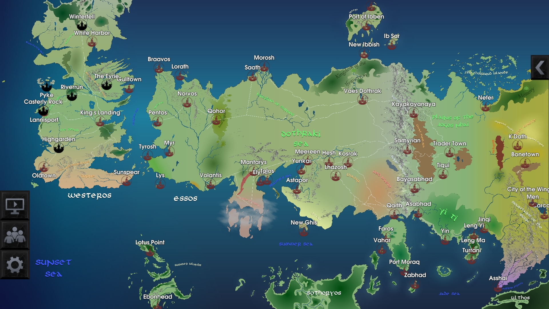 La mappa di Game of Thrones in un 39 app MobileWorld