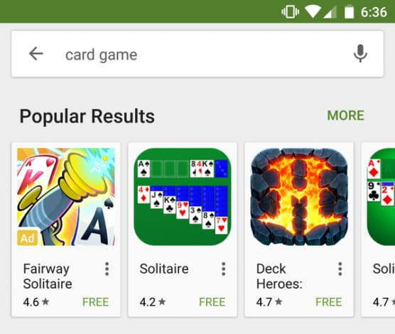 app sponsorizzate play store
