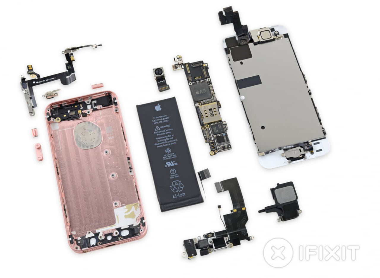 ifixit teardown iPhone SE
