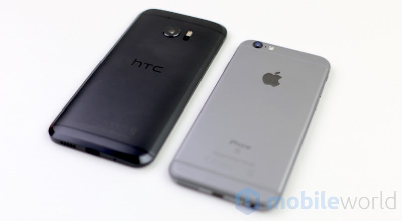 Confronto HTC 10 - Apple iPhone 6s - 5