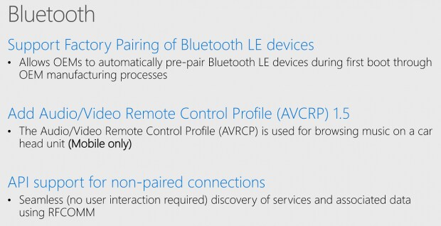 Novità Bluetooth Windows 10 Anniversary Update