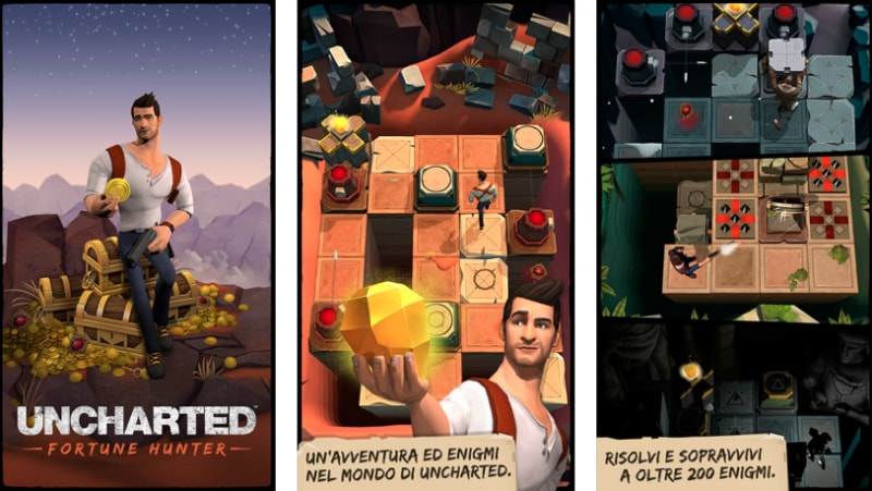 PlayStation Mobile lancia UNCHARTED: Fortune Hunter, puzzle game e companion app di Uncharted 4 (foto)