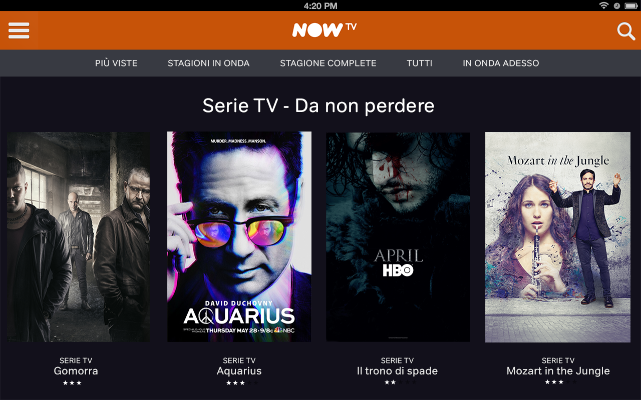 NOW TV app mobile – 2