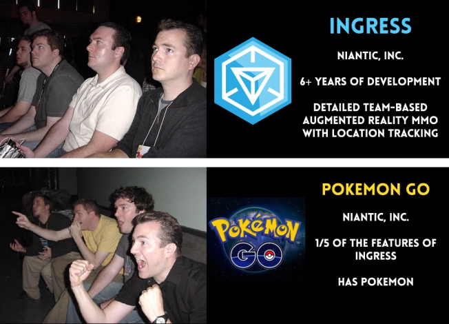 Ingress vs. Pokémon GO