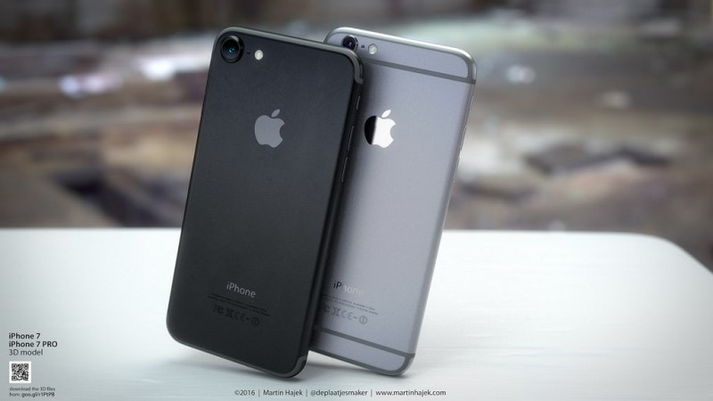 iPhone 7 nero siderale render - 1