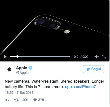 Apple iphone 7 anticipo twitter