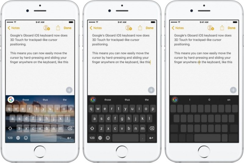 GBoard 3d Touch trackpad