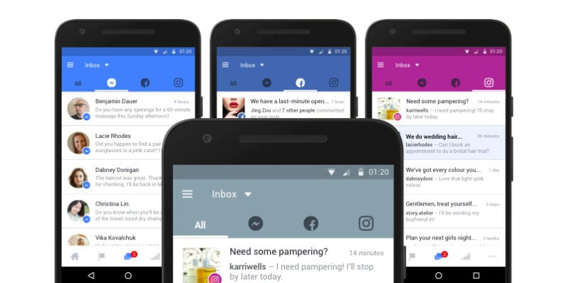 Facebook unifica le inbox di Pages, Messenger e Instagram
