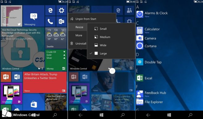 Windows 10 nuove versioni su build 16212