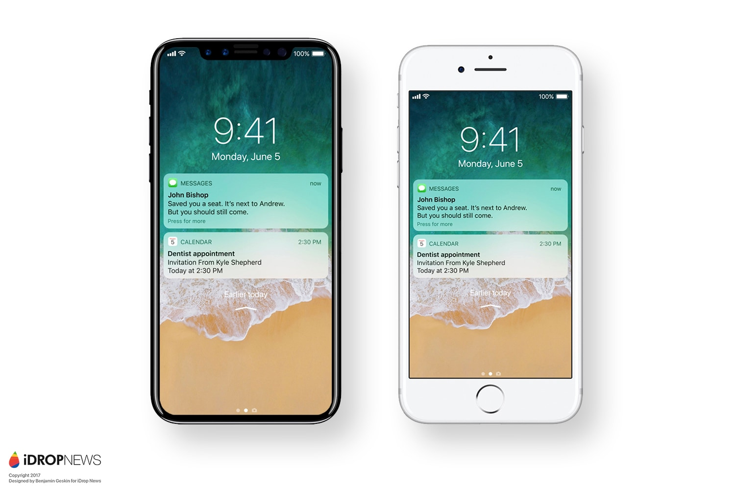 iPhone 8 iPhone X iOS 11 Render iDropNews – 10