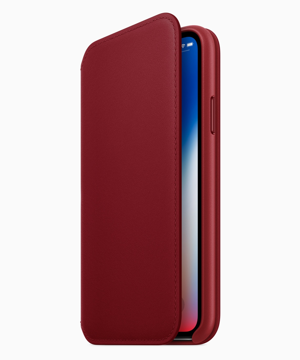 cover folio pelle iphone x product red