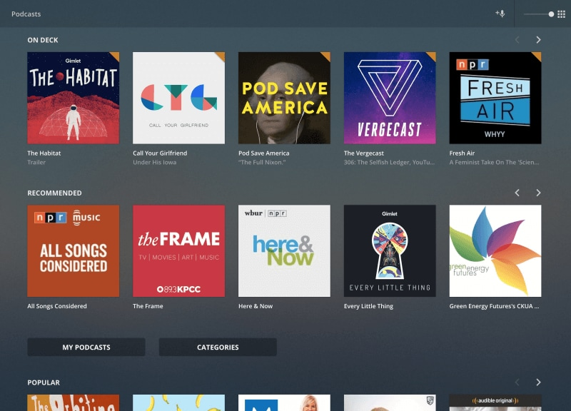 Plex adds support for Podcasts (in beta) and renews Android and iOS apps
