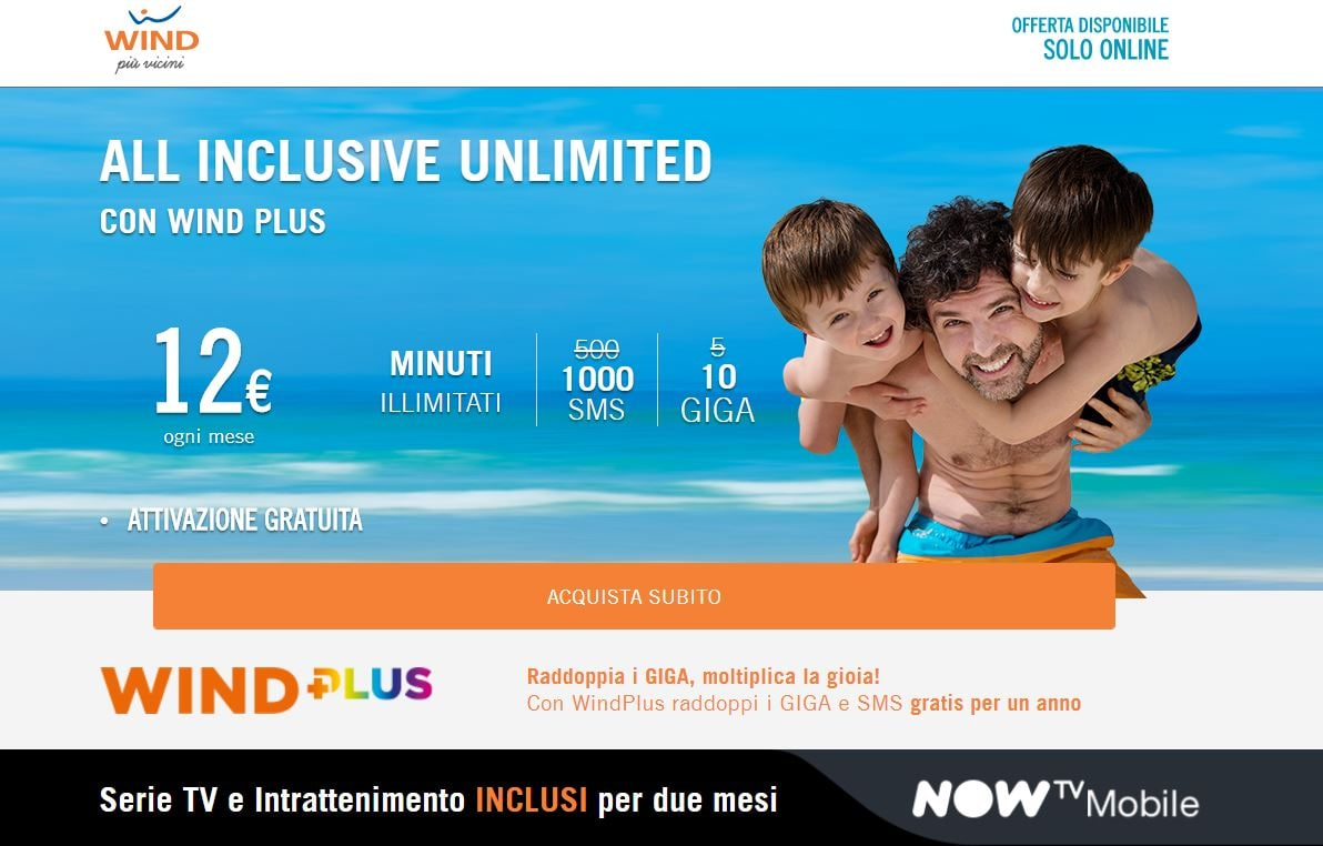 wind all inclusive online