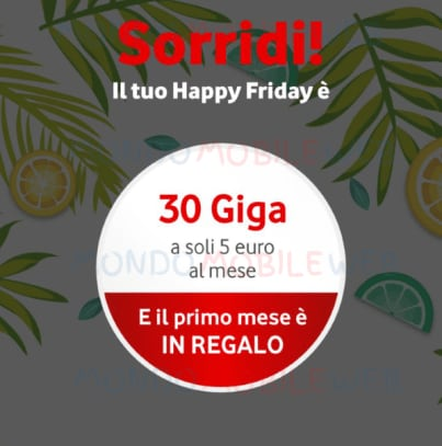 vodafone-happy-friday-13-luglio-30gigagratis