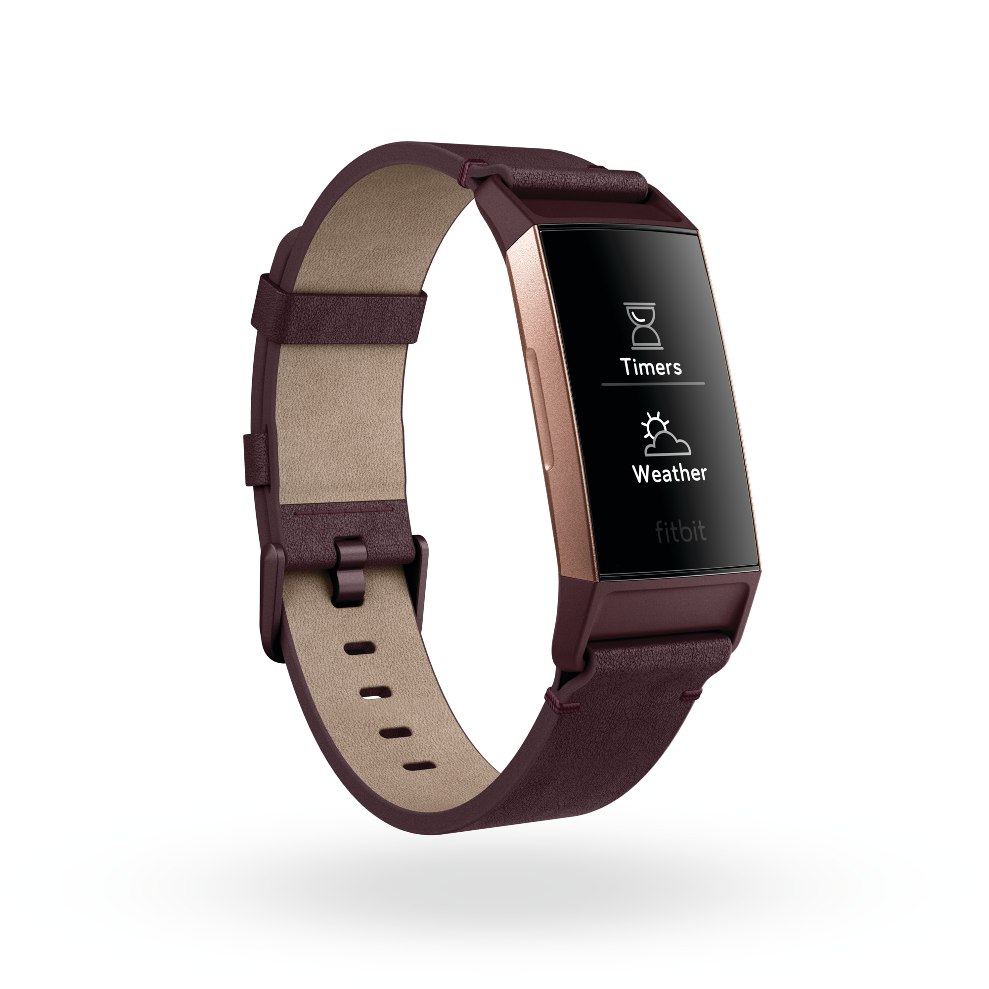 Fitbit_Charge_3_3QTR_Leather_Plum_Rose_Gold_Weather_Timer_App_Switcher_Shadow