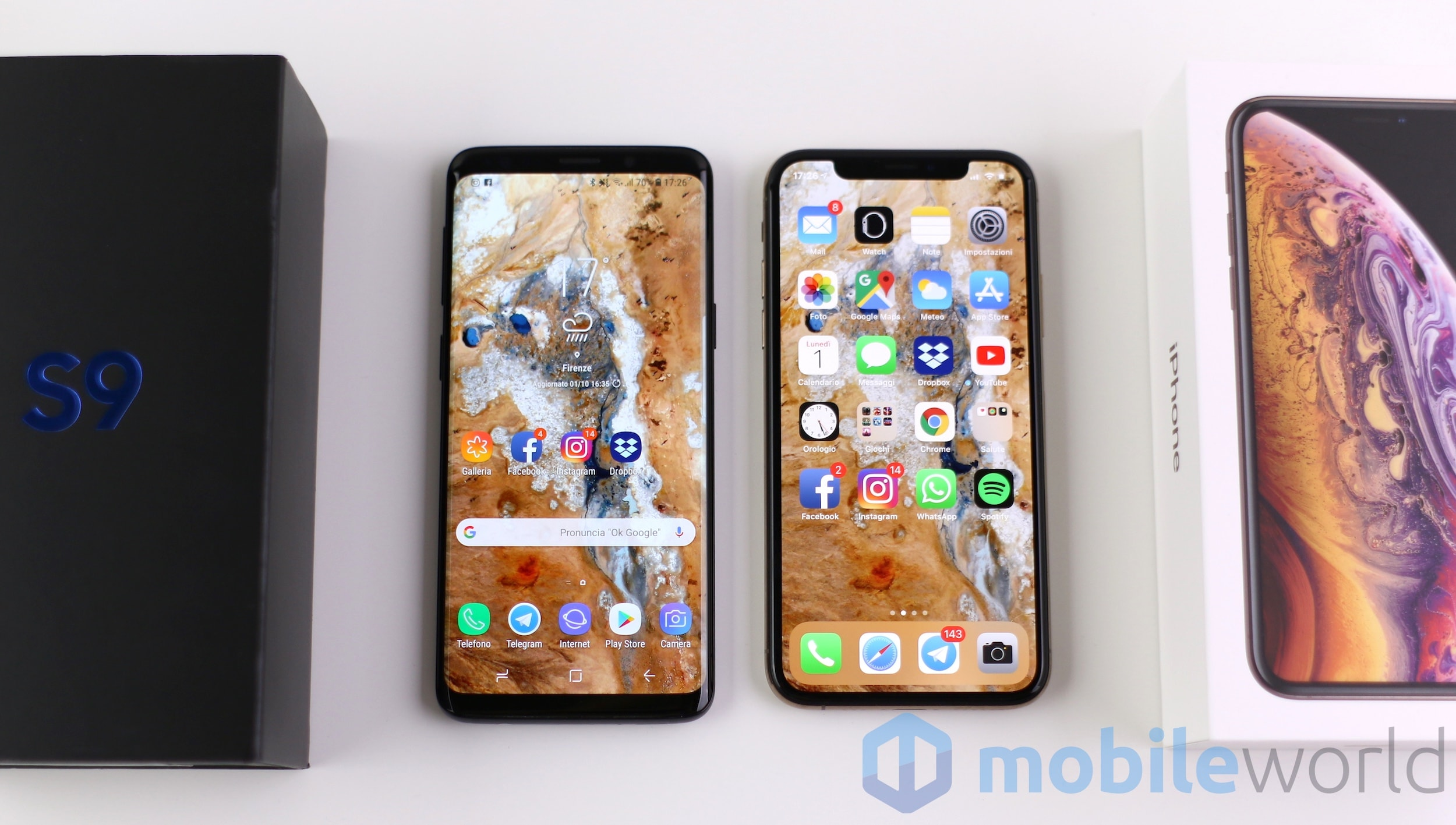 Confronto Galaxy S9 – iPhone XS – 1