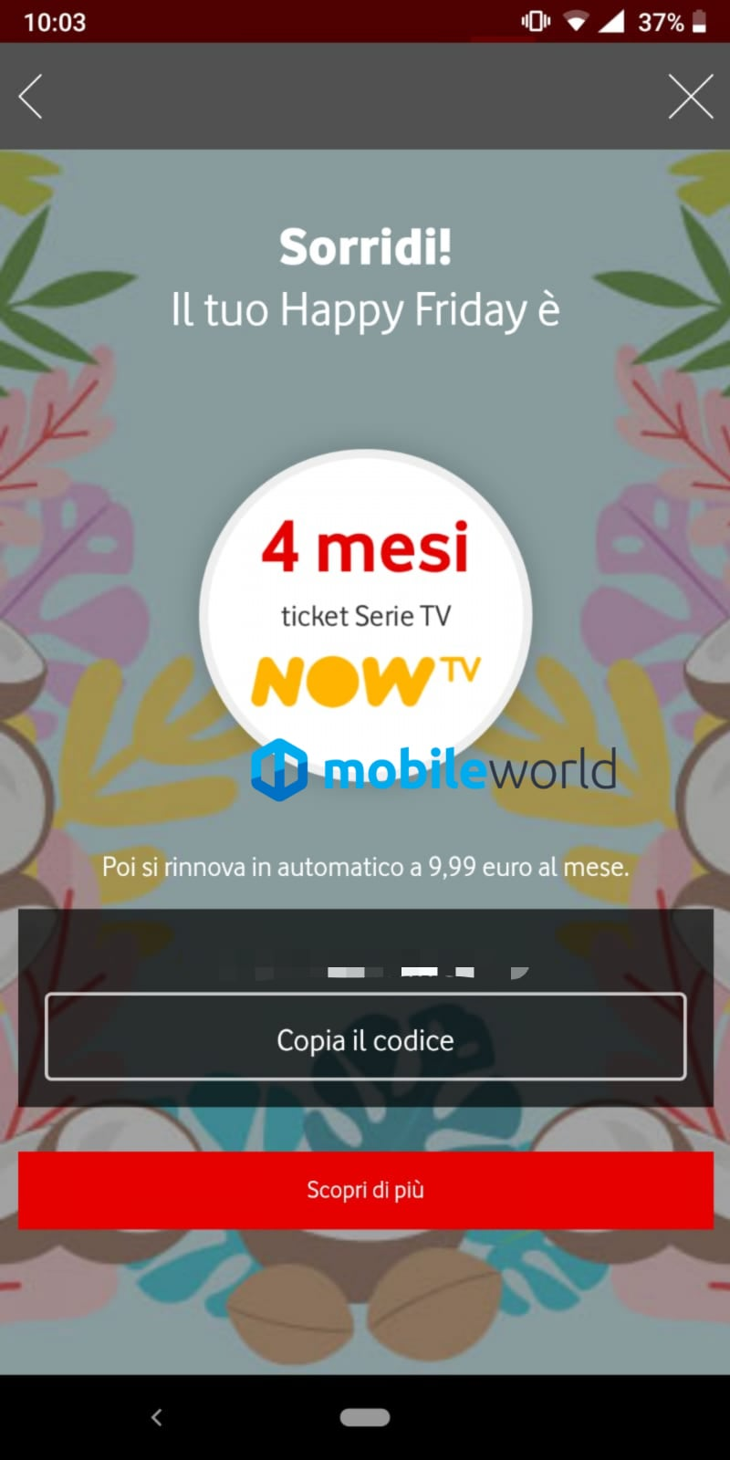 Ben 4 mesi di ticket serie tv su now tv in regalo con for Regalo mobile tv